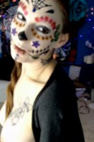 Dia de Los Muertos with Sugar Skull MargotDarling