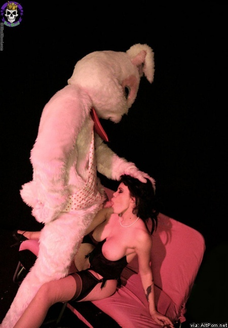 Gia-Paloma Easter butt sex with a giant happy rabbit
