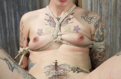 SadisticRope Fisting Bound Tattooed Submissive Krysta Kaos