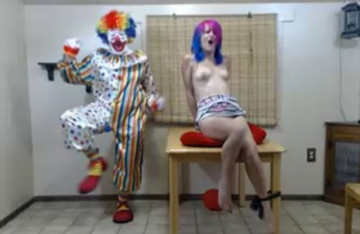 WTF Live Perverted OhMiBod Clown Torture