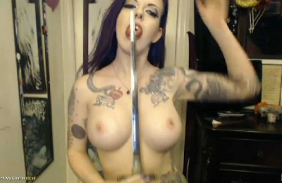 Penny Poison Squirting, Split Tongue, Sword Swallowing, Double Penetration, Bath Cum Show