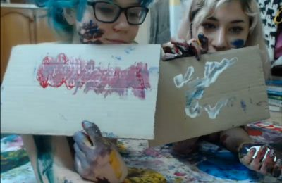 Heidi and Emilia are Giving Art Lessons