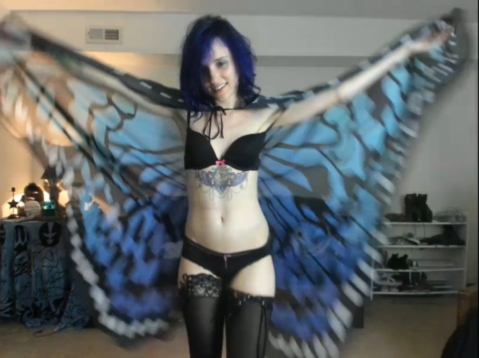 Astral_ Is Dancing With Her Blue Butterfly