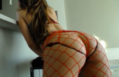 Adrian_Maw Is Smoking Hot In Scarlet Red Fishnet