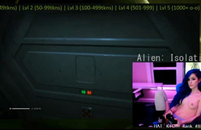 Nearly Naked Kati3Kat Does Battle With Xenomorphs