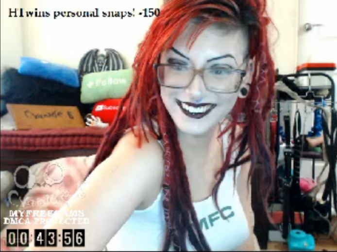 Sexy Redhead Cyanide_B Does A 12 Hour Show