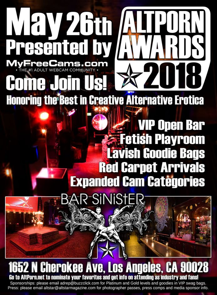 AltPorn Awards 2018 flyer