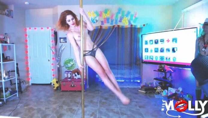 MissMolly Knows How To Really Work that Pole
